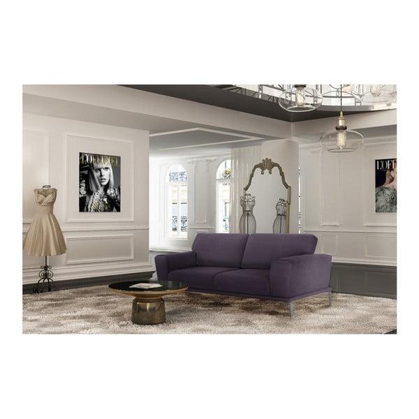 Fialová pohovka pro tři L'Officiel Interiors Kendall