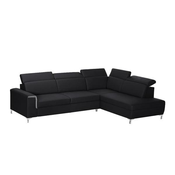 Černo-šedá pohovka Modernist Serafino, pravý roh