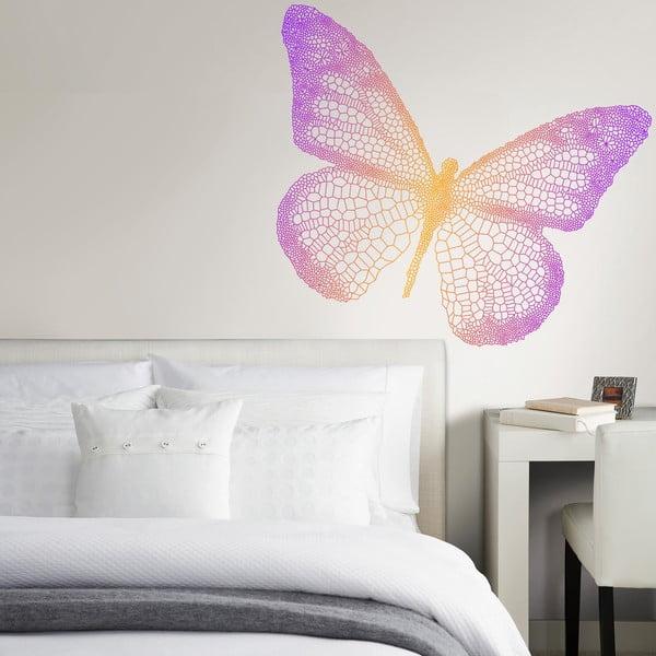 Samolepka na stěnu Duhový motýl, 50x70 cm