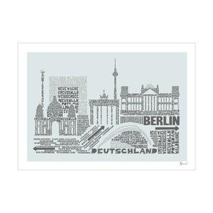 Plakát Berlin Grey&Grey, 50x70 cm