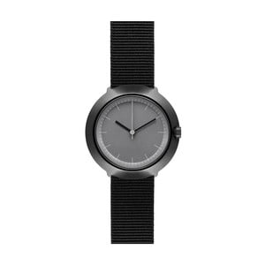 Hodinky Grey Fuji Black Nylon, 43 mm