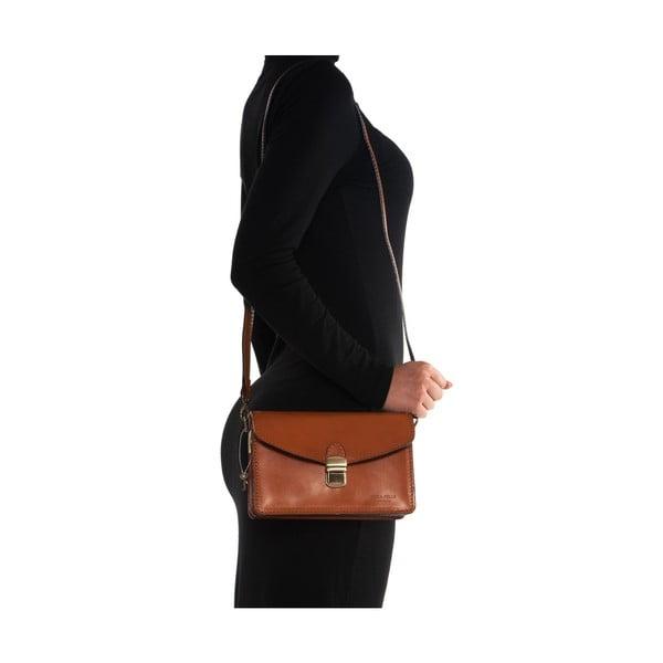 Kožená kabelka Mangotti 3041, koňak