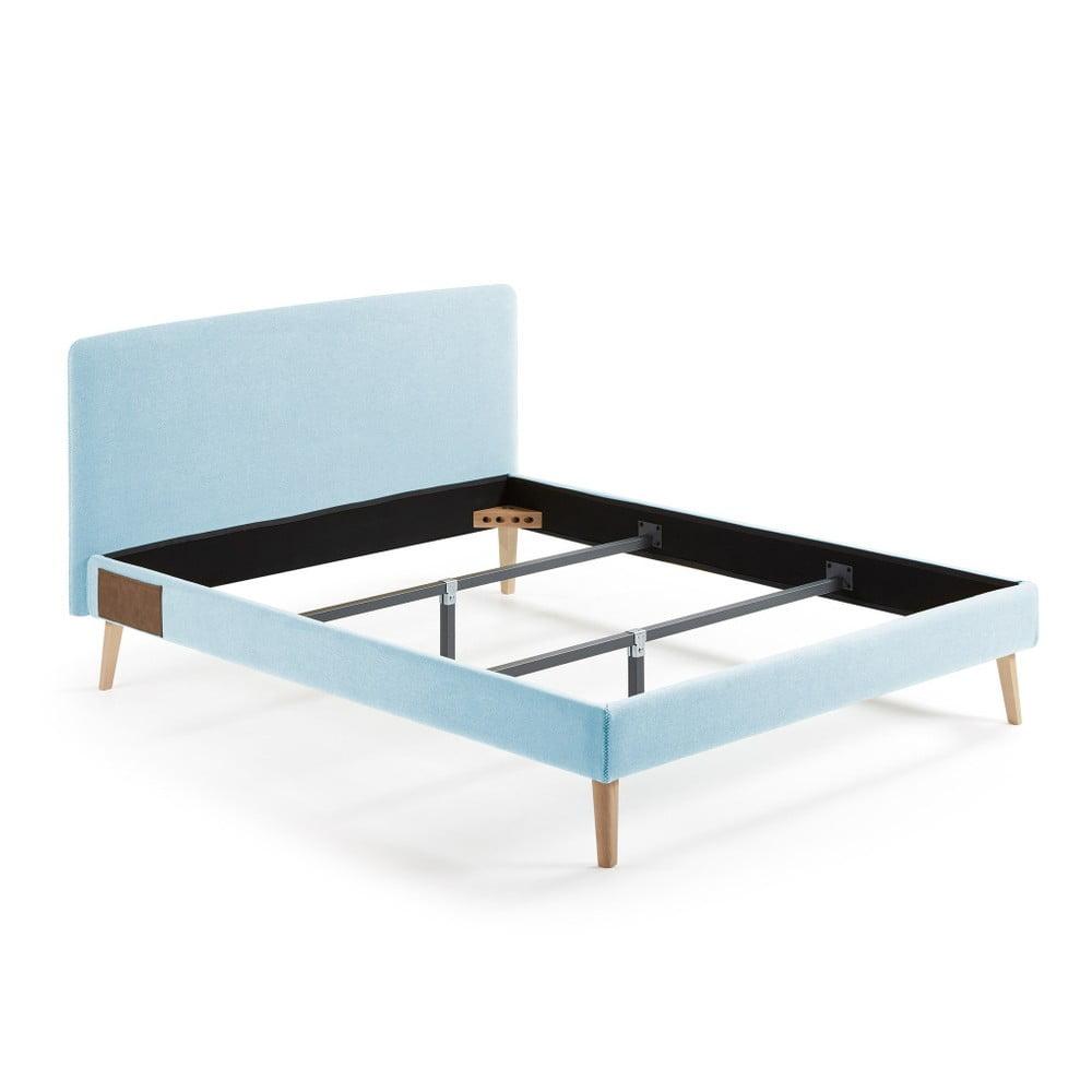 Světle modrá dvoulůžková postel La Forma Lydia, 190x150cm
