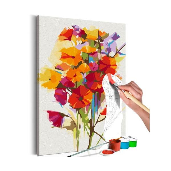 DIY set na tvorbu vlastného obrazu na plátne Artgeist Summer Flowers, 60×40 cm