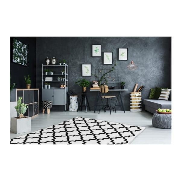 Černobílý koberec Obsession My Black & White Faw Whit, 120 x 170 cm