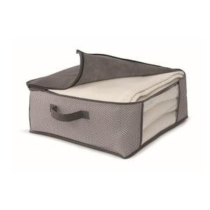 Hnědý uložný box na přikrývky Cosatto Twill,45x45cm