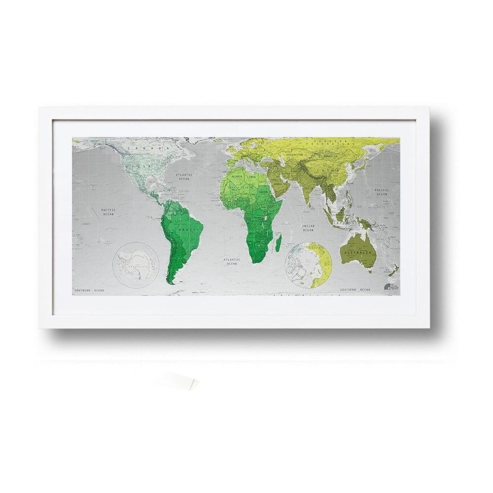 Zelená mapa světa The Future Mapping Company Future Map, 101x58cm