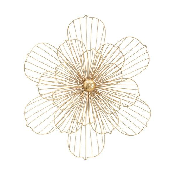 Nástěnná dekorace ve zlaté barvě Mauro Ferretti Flower Stick, 60x54cm