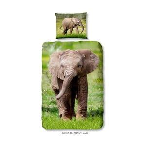Dětské bavlněné povlečení Muller Textiels Elephant, 140 x 200 cm