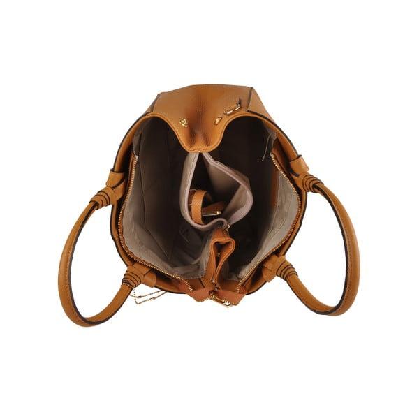 Kožená kabelka Emilio Masi Bristol, hořčicová