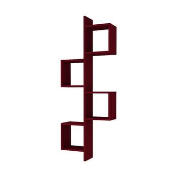 Raft de perete Homitis Cling, roșu închis de la Homitis