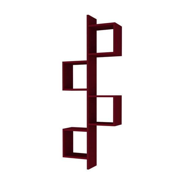 Raft de perete Homitis Cling, roșu închis