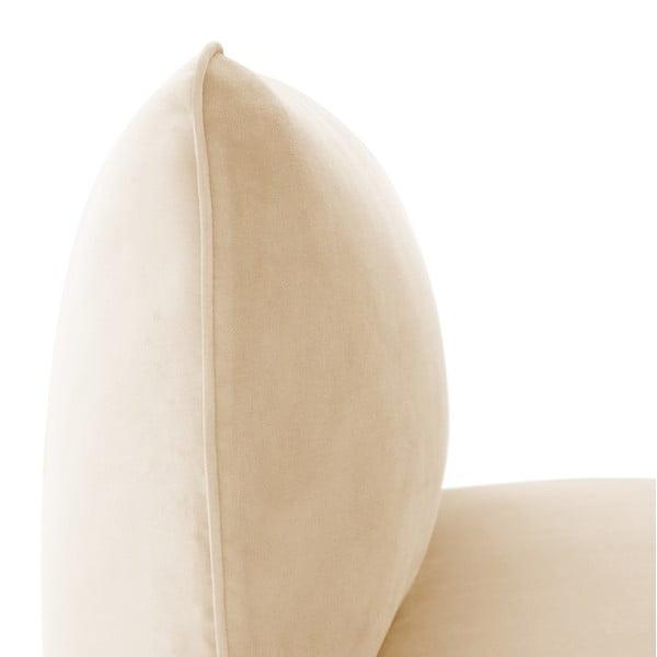 Pískově béžový prostřední modul pohovky Vivonita Velvet Cube