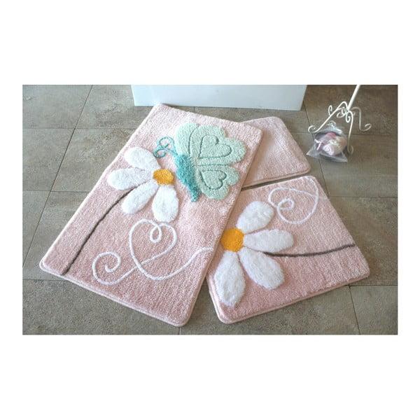 Sada 3 koupelnových předložek Alessia Ponte Pink