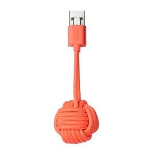 Cablu cu Micro USB Native Union Key Cable, portocaliu