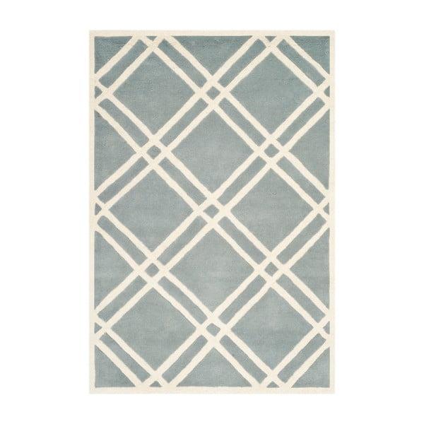 Světle modrý vlněný koberec Safavieh Cameron, 243 x 152 cm