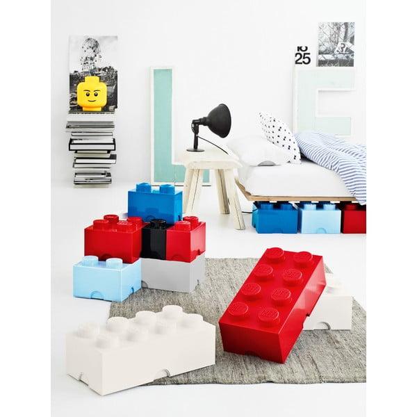 Azurově modrá úložná kostka LEGO®