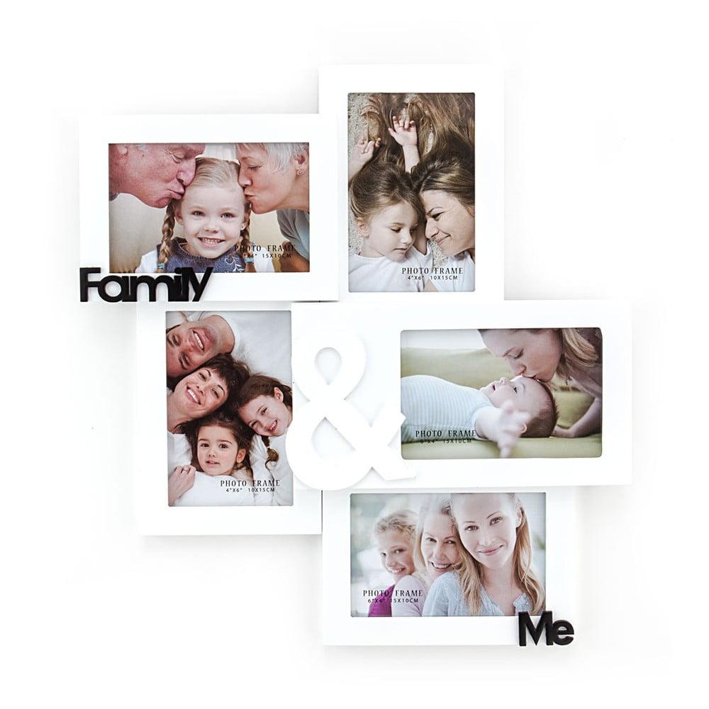 Dřevěný nástěnný fotorámeček Tomasucci Family And Me, pro fotografie 10 x 15 cm