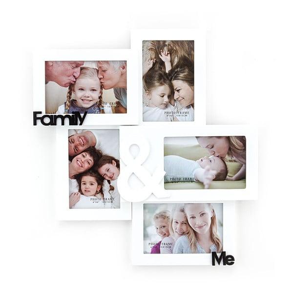 Dřevěný nástěnný fotorámeček Tomasucci Family And Me, pro fotografie 10x15cm