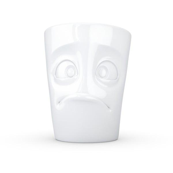 Biely bezradný porcelánový hrnček s uškom 58products