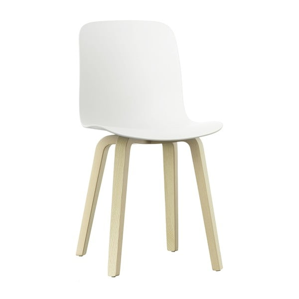 Bílá jídelní židle s nohami z jasanového dřeva Magis Substance