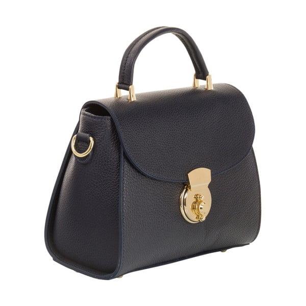 Tmavě modrá kabelka z pravé kůže Andrea Cardone Elegant