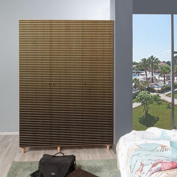 Třídveřová šatní skříň Mode Intim, 135 x 192 cm