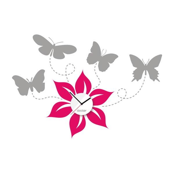 Hodiny se samolepkou Butterflies