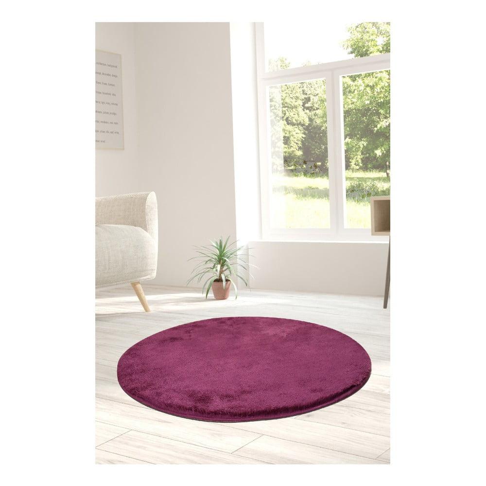 Fialový koberec Milano, ⌀ 90 cm