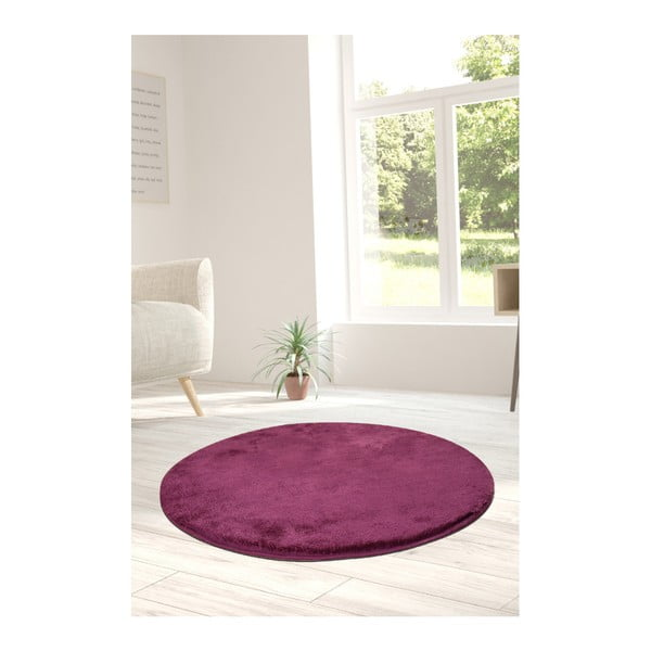 Fioletowy dywan Milano, ⌀ 90 cm
