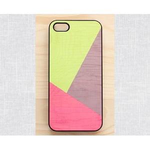 Obal na iPhone 4/4S, Vibran neon geometric wood/black