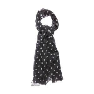 Šátek Dotty Grey, 180x100 cm