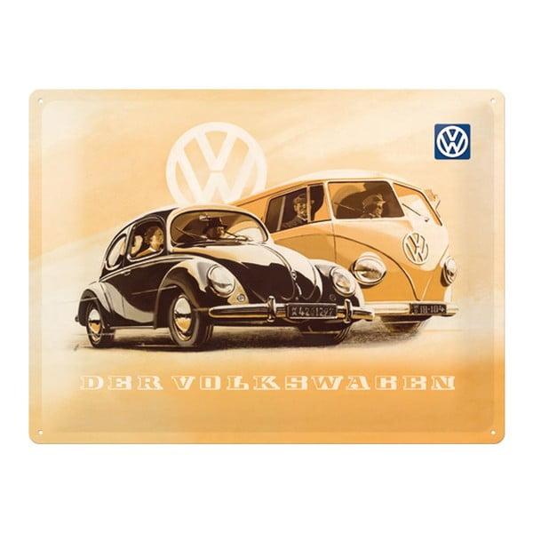 Plechová cedule Der Volkswagen, 30x40 cm