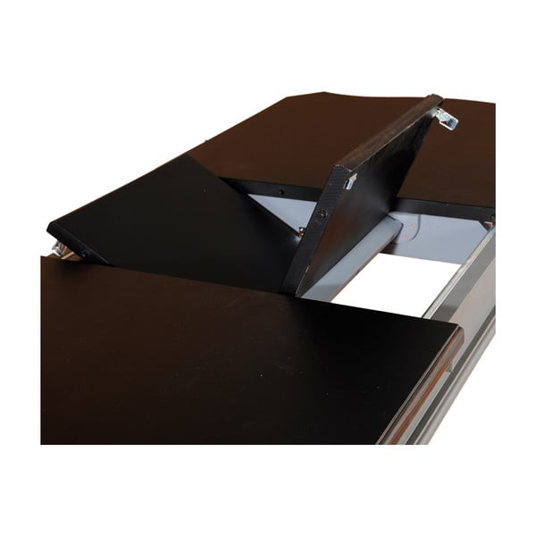 Rozkládací stůl Transilvania Belgique Grey, 80 x 140-180 cm