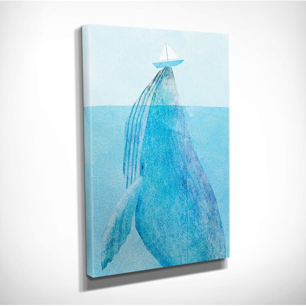 Nástěnný obraz na plátně Whale, 30 x 40 cm