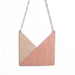 Přívěšek Snug.Geometric Triangle, meruňkový