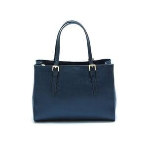 Modrá kožená kabelka Isabella Rhea Classic Blu