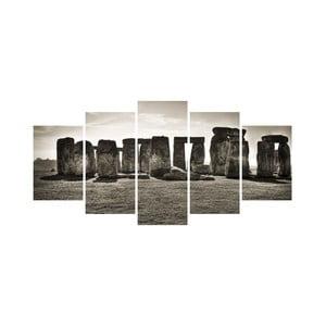 Tablou din mai multe piese Black&White nr. 13, 100 x 50 cm