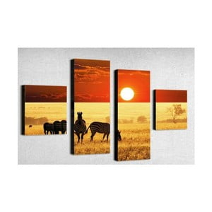 4dílný obraz Africa, 50x100 cm