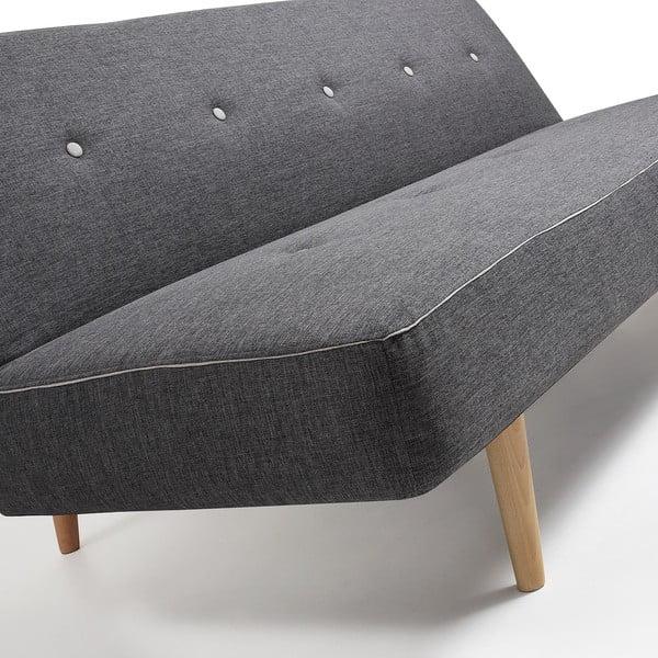 Canapea extensibilă La Forma Kaleido, gri închis