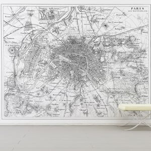Samolepka Paris Map 110x133 cm