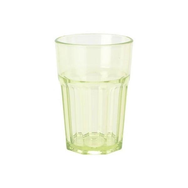 Sada zelených sklenic 300 ml, 4 ks