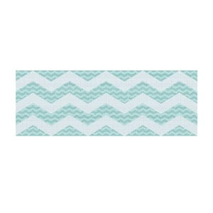 Vinylový koberec Cocina Chevronmanía Aqua, 50x100 cm
