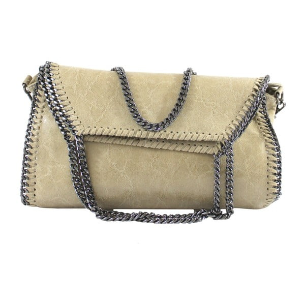 Taupe kožená kabelka Brandy