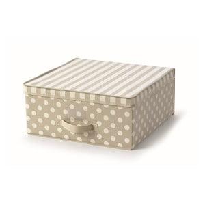 Béžový uložný box s víkem Cosatto Trend,45x45cm