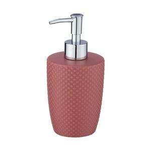 Cihlově červený keramický dávkovač mýdla Wenko Punto