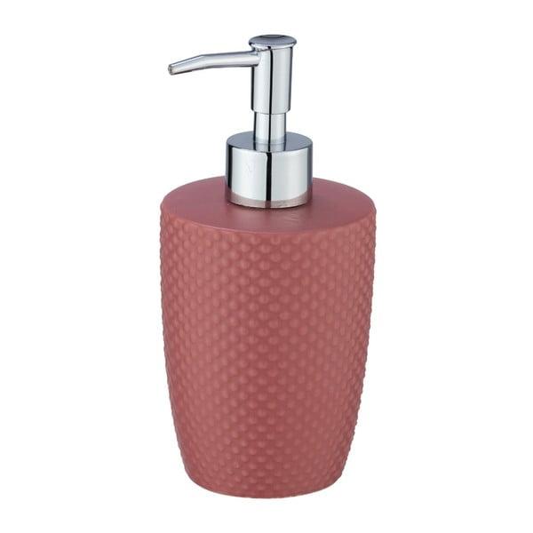 Czerwony ceramiczny dozownik do mydła Wenko Punto