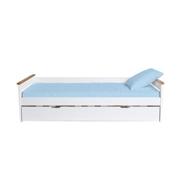 Biela rozkladacia posteľ Marckeric Lola, 90 × 190 cm