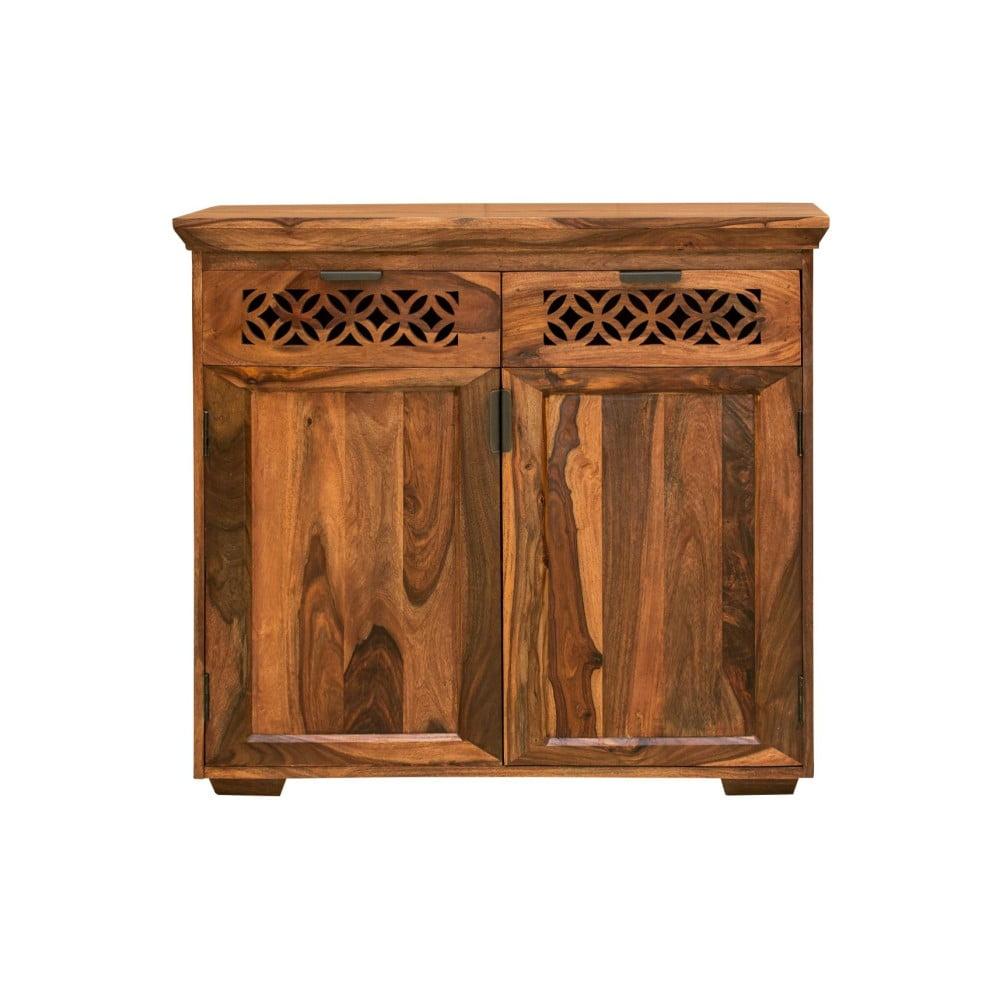 Dvoudveřová komoda z palisandrového dřeva se 2 zásuvkami Massive Home Rosie