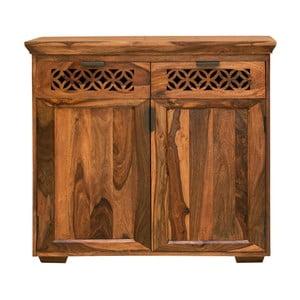 Comodă din lemn de palisandru cu 2 uși și 2 sertare Massive Home Rosie